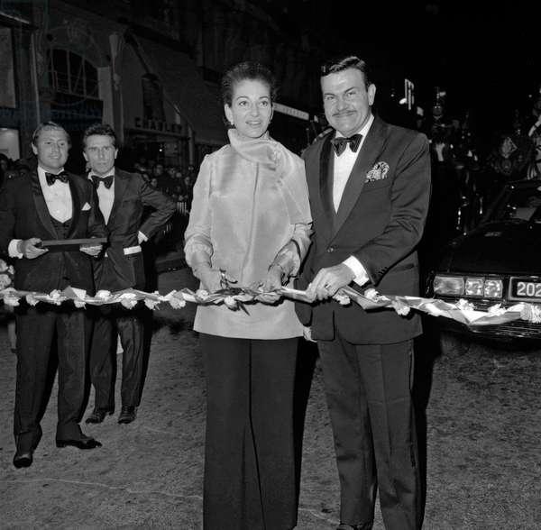 Maria Callas et Jacques Baumel