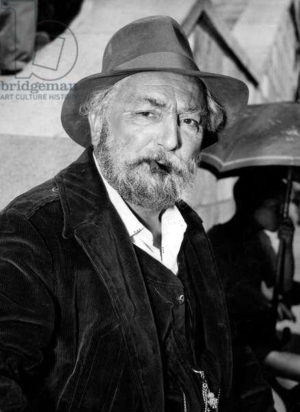 La Loi De Julesdassin Avec Pierre Brasseur Le 5 Septembre 1958 (b/w photo)