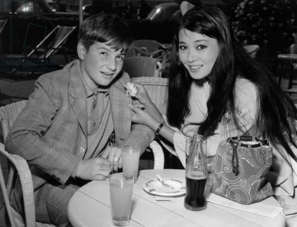Jean Pierre Leaud and Japanese actress Hitomi Nozoe