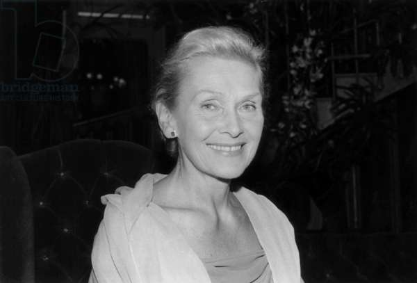 Elisabeth Schwarzkopf, 1975 (b/w photo)