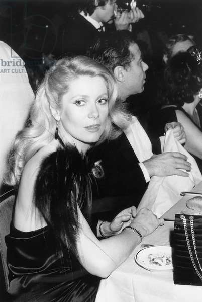 Catherine Deneuve during Shirleymaclaine Party at The Lido, Paris, April 24, 1979 (b/w photo)
