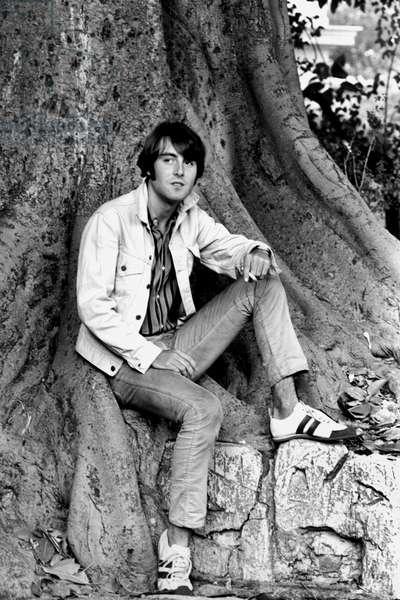 French singer Michel Delpech, c.1966 (b/w photo)