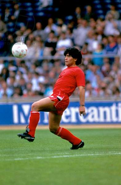 Argentinian Footballer Diego Maradona in 1982 (photo)