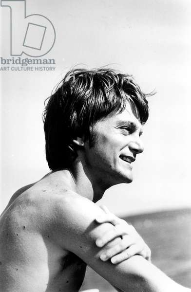 French Singer Claude Francois during Summer 1966 (b/w photo)