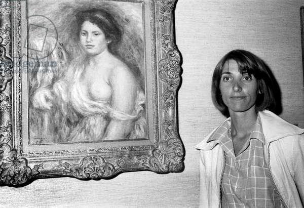 Marina Picasso (Granddaughter) during Picasso Exhibit at The Louvre Museum Showing The Paintings Donated By his Family To The French Government After The Death of Pablo From May 27, 1978 Donation Dation Gift Payment in Kind (b/w photo)