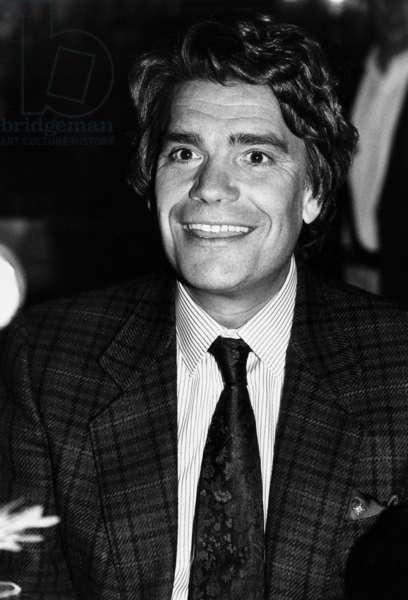 Bernard Tapie on March 30, 1990 (b/w photo)
