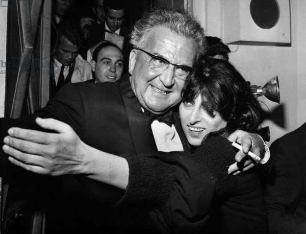A.M. Julien Congratulates The Italian Actress Anna Magnani After her Representation in The
