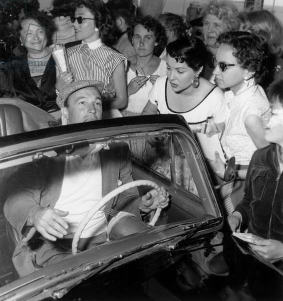 Cannes Film Festival : Gene Kelly Arrives To The Carlton, May 6, 1955 (b/w photo)