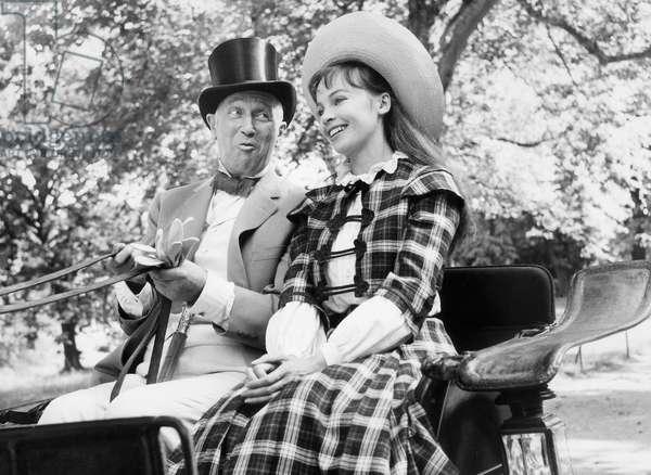 Gigi De Vincenteminnelli Avec Maurice Chevalier Et Leslie Caron 1957 Neg A41323 (b/w photo)