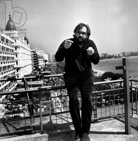 Francis Ford Coppola at Cannes Film Festival May 21, 1979 For Film Apocalypse Now (b/w photo)