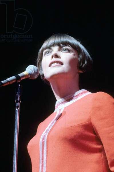 Singer Mireille Mathieu on Stage in 1967 (photo)
