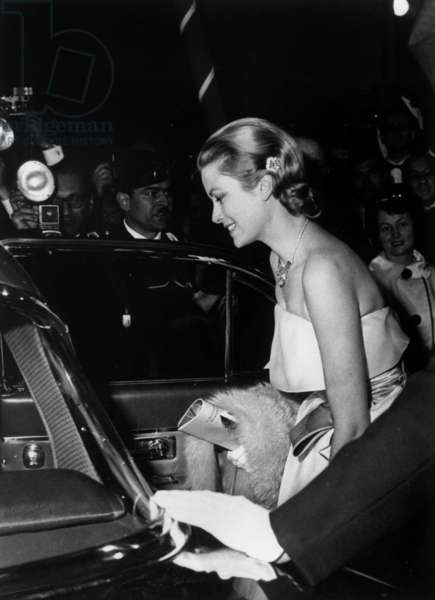 Princess Grace, Cannes Film Festival, 1960 (b/w photo)