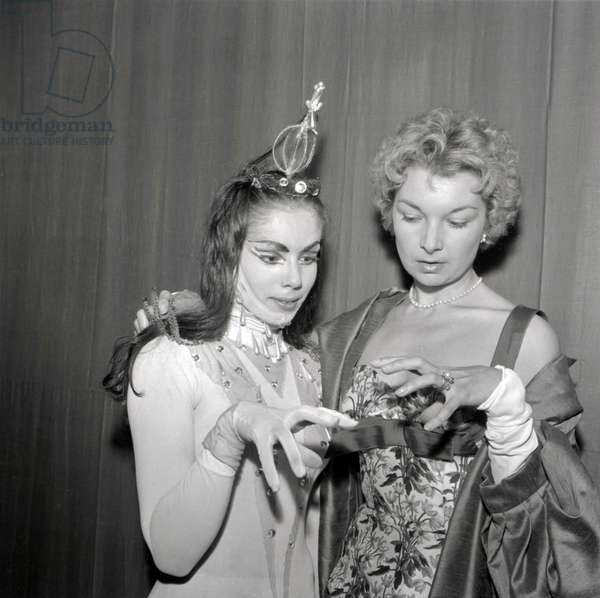 Veronica Mlakar and Colette Marchand (b/w photo)