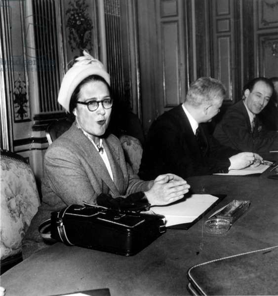 Germaine Poinso Chapuis (1901-1981) Was The First French Woman Appointed As Minister (Minister of Public Health) in 1947 (b/w photo)