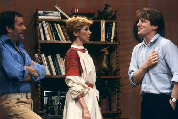 "Axelle Abbadie, Michel Duchaussoy and Andre Dussollier in Tv-Play ""Monsieur Mazure"" September 27, 1983 (photo)"