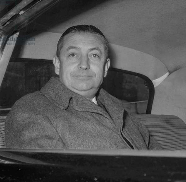 French politician Henri Rochereau, Paris, January 14, 1960 (b/w photo)