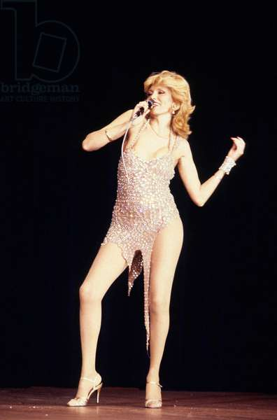 Gala of The Unicef on January 31, 1980 at The Moulin Rouge, Paris : Amanda Lear (photo)