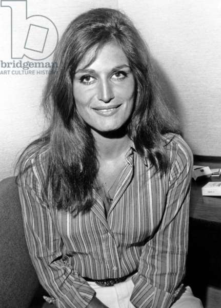 """Singer Dalida on June 9, 1967 in her Dressing Room Before TV Programme """"Palmares Parade"""" (b/w photo)"""