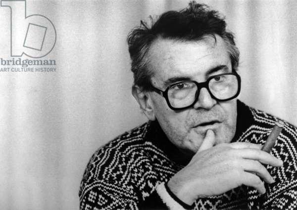 Director Milos Forman on December 8, 1989 (b/w photo)