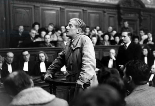 Trial of Otto Abetz (1903-1958) Who Was German Ambassador in Paris during Ww2, July 13, 1949 (b/w photo)