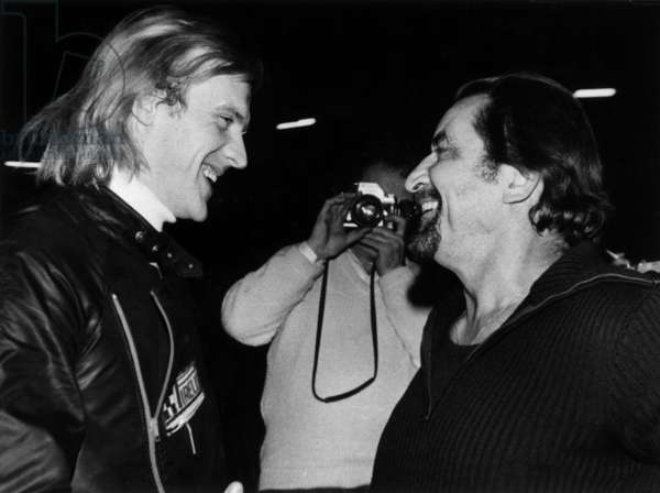 Alexandre Godounov and Maurice Bejart, Paris, August 24, 1979 (b/w photo)