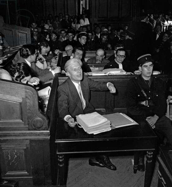 Trial of Otto Abetz, Paris, July 12, 1949 : Otto Abetz (b/w photo)