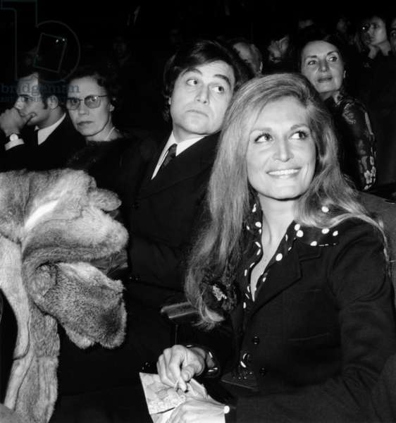 Singer Dalida With her Brother Orlando February 9, 1972 (b/w photo)