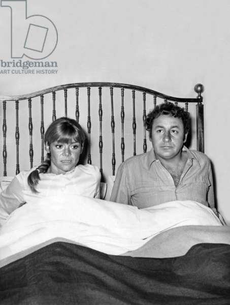 Alexandre Le Bienheureux Very Happy Alexander De Yvesrobert Avec Francoise Brion Et Philippe Noiret 1967 (b/w photo)