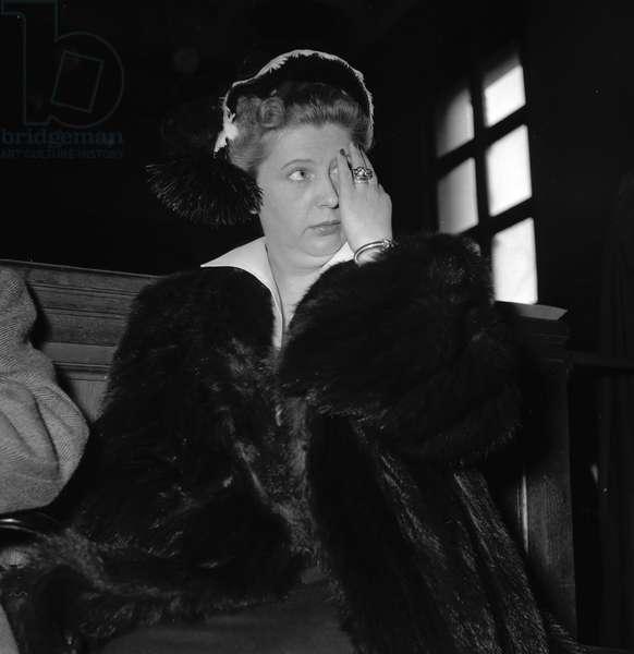 Nadia temperton at her trial for blackmail, 1952