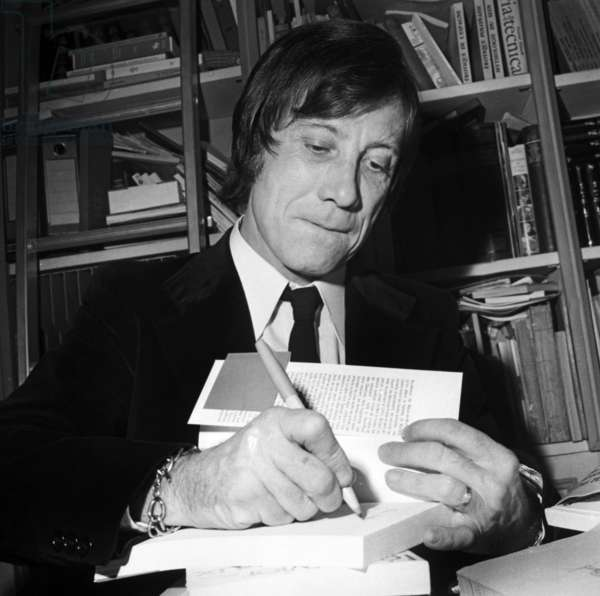 French Writer Jean Carriere Received The Goncourt Prize November 1972 (b/w photo)
