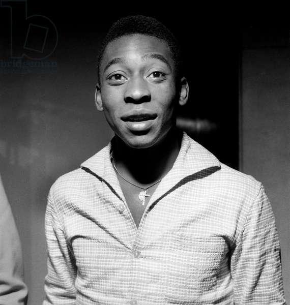 Brazilian Footballer Edson Arantes Do Nascimento Aka Pele here in 1960 (b/w photo)