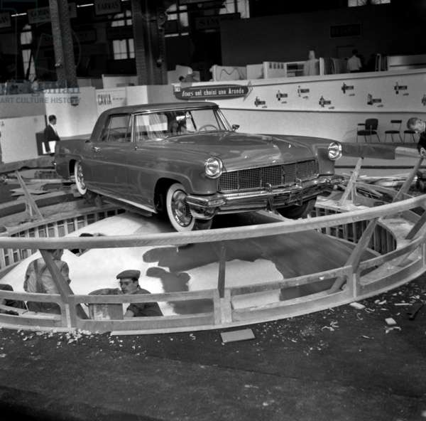 Paris Motor Show, October 6, 1955 : Ford Continental Mark Ii Car (b/w photo)