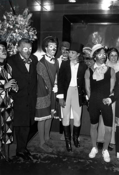 Circus Festival in Monaco : Prince Albert of Monaco (B1958, Son of Prince Rainierdemonaco and Princessgrace, Future Albert Ii) and his Sister Princess Caroline (B1957) during Party Given in Jimmy'S on December 30, 1976 (b/w photo)