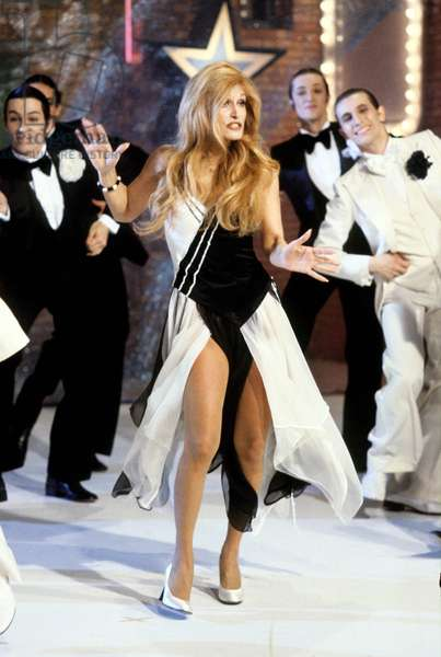 Singer Dalida during TV Programme