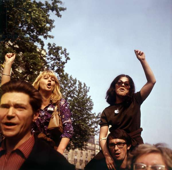 Cgt (French Trade Union) Demonstration on May 29 1968 in Paris (photo)