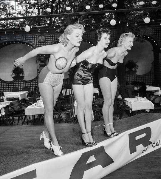 Reard swimsuits, May 19, 1950, Paris (b:w photo)