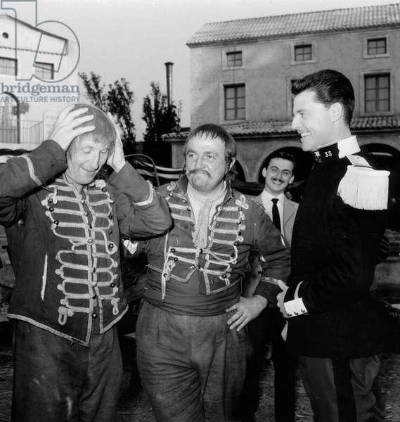 Les Hussards De Alexjoffe Avec Bouvil Bernard Blier Et Gerard Philipe Le 24 Juin 1955 (b/w photo)