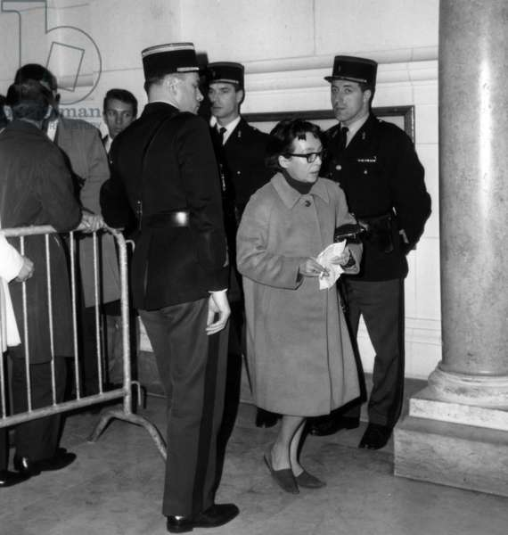 French Writer Marguerite Duras Arriving at Law Courts in Paris To Attend Trial Sued By French Deputy Pierre Lemarchand Against The Paper