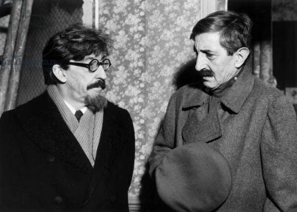 Trotsky Staline Trotsky: Le Pouvoir Et La Revolution De Yvesciampi Avec Henri Virlojeux (Virlogeux, Trotski) Et Maurice Garrel (Menjinski) 1979 (b/w photo)