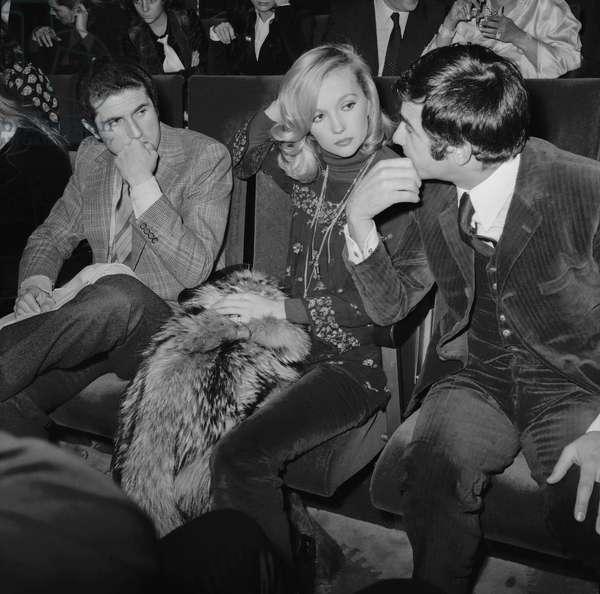 Claude Lelouch ,Caroline Celier et Jean Claude Brialy