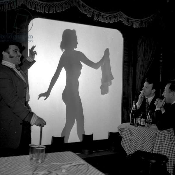 Mysteria, artist of the Crazy Horse Saloon, Paris, 1952