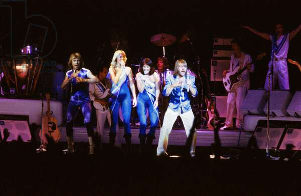 Abba Group on Stage in 1979 Abba: A For Annifrid, B For Benny, B For Bjorn, A For Agnetha (photo)