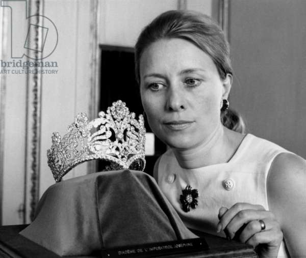 The Tiara With 1040 Diamonds Offered By Emperor Napoleon 1St To Empress Josephine and She Wore The Day of The Coronation, Private Collection of Van Cleef and Arpels, June 12, 1969 (b/w photo)