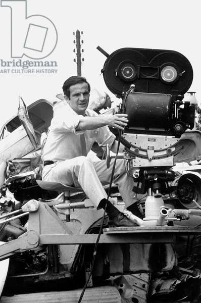 French Film Maker Francois Truffaut on Set of Film The Bride Wore Black May 29, 1967 (b/w photo)