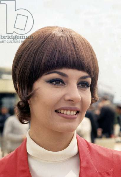 Portrait of The French Actress Michele Mercier in 1971 (photo)
