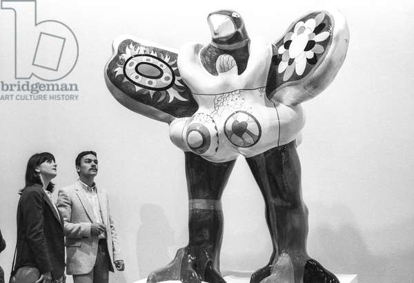Exhibition of Niki de Saint-Phalle at the Centre Georges Pompidou in Paris, July 3, 1980