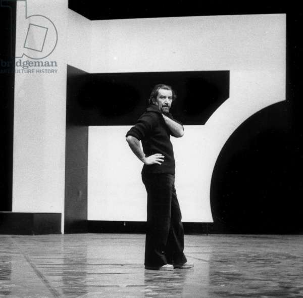 Maurice Bejart on Stage during Rehearsals For Ballet