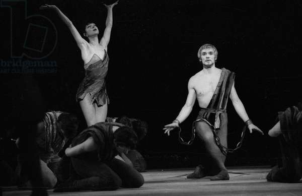 Russian Dancers Ekaterina Maximova and Vladimir Vassiliev during Rehearsal of Ballet