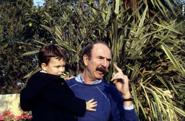 Jean Pierre Marielle and his Son in 1983 (photo)