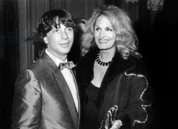 Herve Vilard and Dalida Celebrating A Jubilee of Herve Vilard April 20, 1984 (b/w photo)